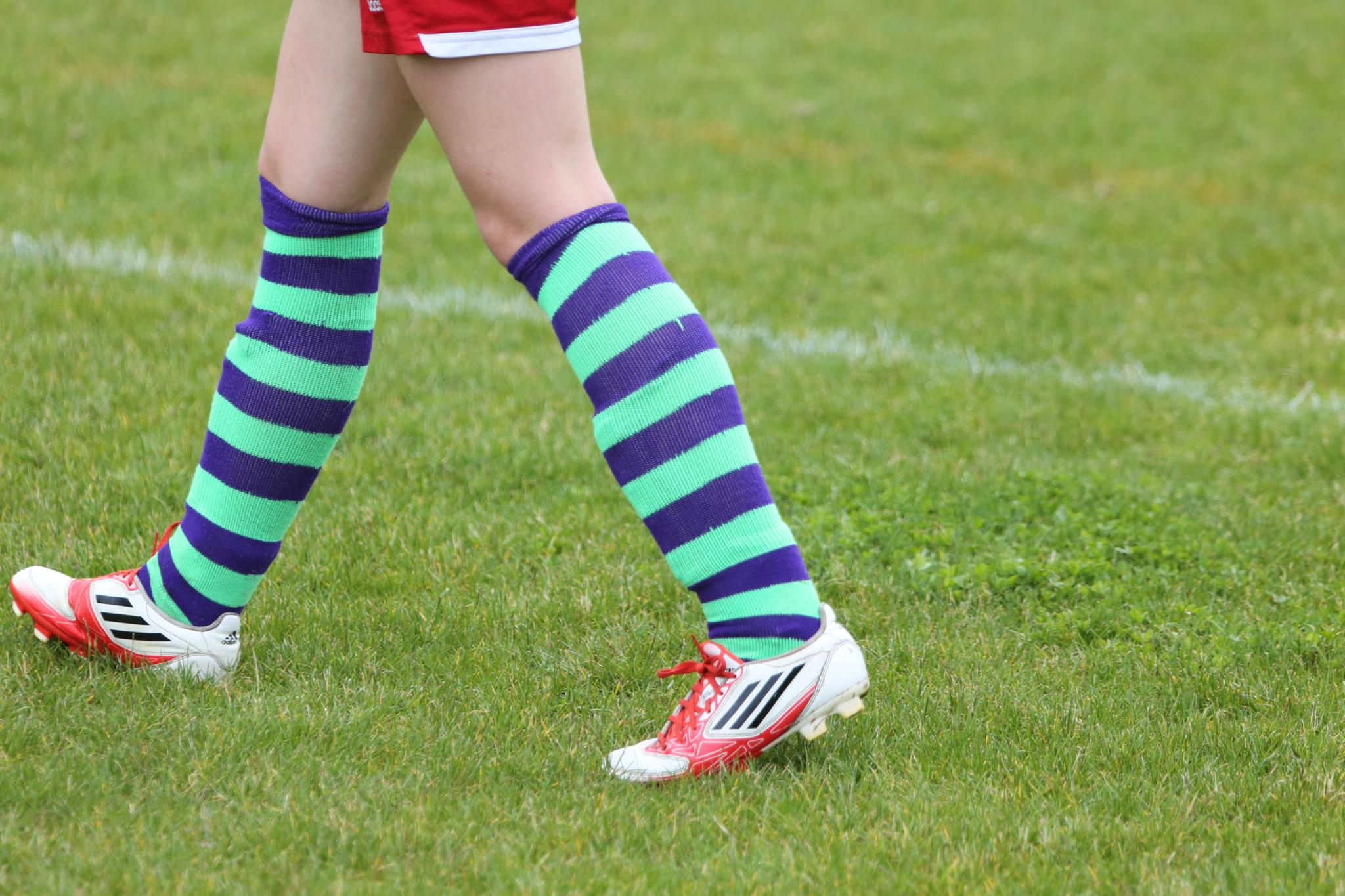 Pair girls' soccer socks with girls' soccer cleats and shirts so she's outfitted from head-to-toe. Shop soccer socks for men, women and boys, and be sure to explore the full collection of girls' soccer clothing for additional apparel items.