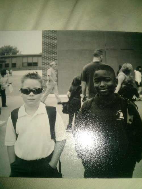 Caleb Valko (left) and Kwamane Bowens, old-school style.