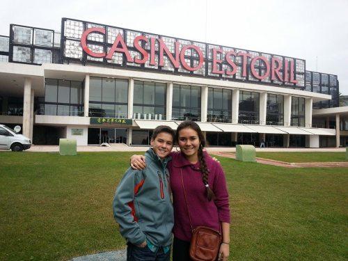 Dawson d'Almeida (left) and big sister Amanda, reunited in Europe.