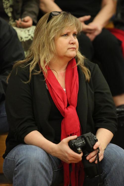 Shelli Trumbull and her trusty camera. (John Fisken photo)