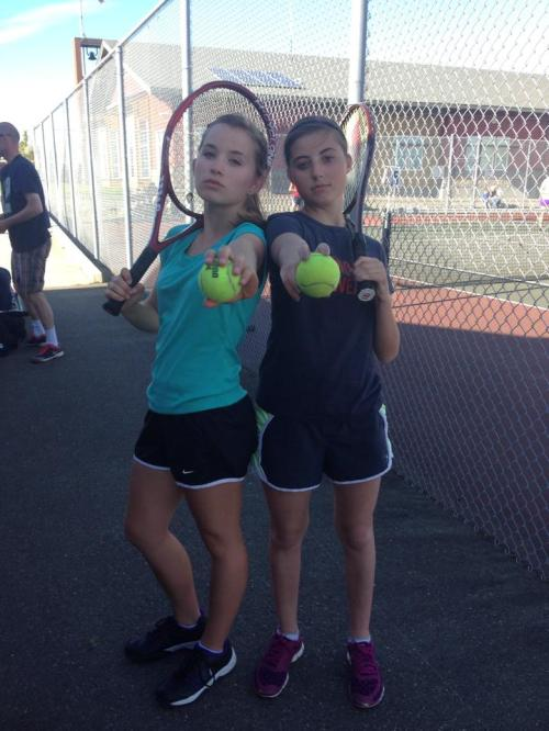 Back alley brawlers Valen Trujillo (left) and Micky LeVine rule the tennis courts.