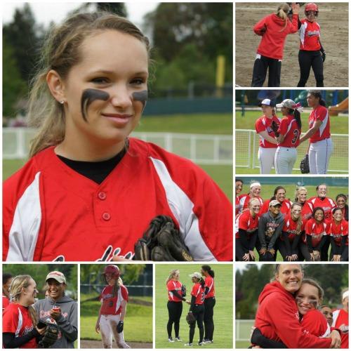 Alexis Trumbull, college softball sensation. (Shelli Trumbull photos)