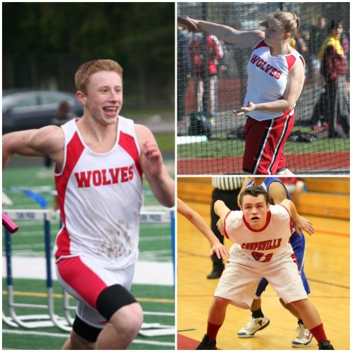 Clockwise, from left, are Dalton Martin, Skyler Lawrence and Grey Rische.