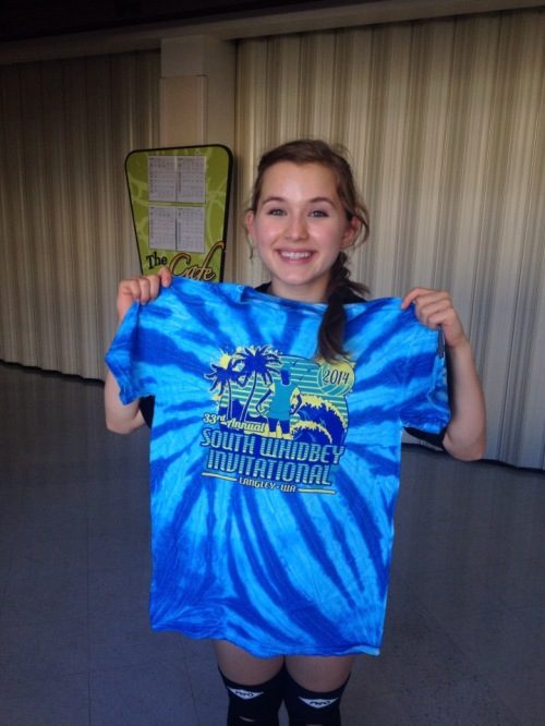 Sophomore Valen Trujillo poses with her tourney shirt.