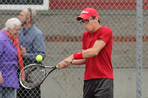 Jared Helmstadter and the CHS boys' tennis team are coming off their first win of the season.