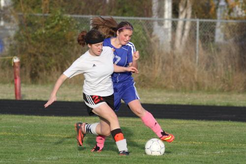 Normally one of the anchors of the CHS defense, Jacki Ginnings moved up and scored her first-ever high school goal against Chimacum.