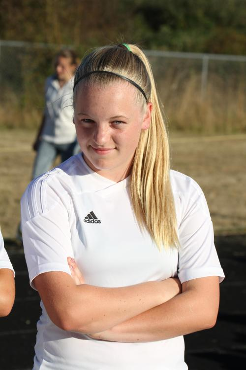 Sage Renninger is part of a talented group of freshmen making an impact for the Wolf girls' soccer squad. (John Fisken photos)