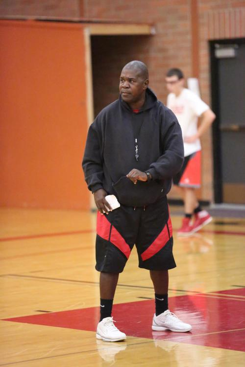 That moment when CHS coach Anthony Smith realizes his players are NOT running.