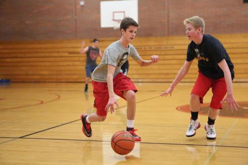 """Luke """"Shake 'n Bake"""" Merriman, preparing to break Ben Olsen's legs."""