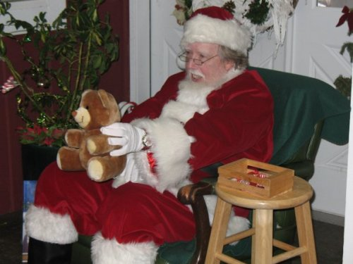 Greenbank Farm's Santa dispenses holiday joy.