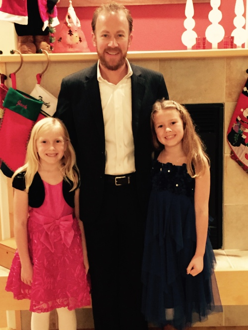 Jason McFadyen with daughters Kate (left) and Pearl.