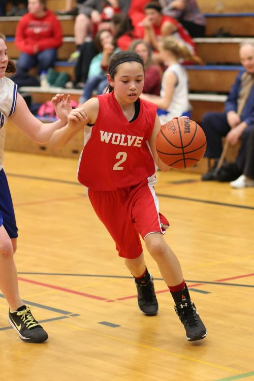 Scout Smith, seen here during the middle school season, helped drive Coupeville's offense. (John Fisken photo)