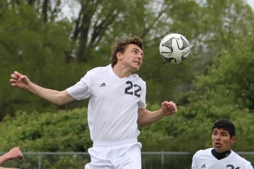 Sebastian Davis unleashes his full fury on the ball.