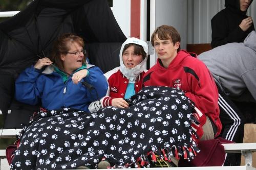 Wolf supporters Kerry Rosenkranz (left) Erin Rosenkranz and Keegan Kortuem