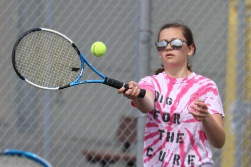 McKenzie Bailey prepares to flick another winner.