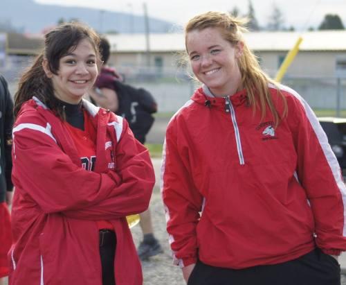Robin Cedillo (left) and CHS coach Deanna Rafferty (Shelli Trumbull photo)