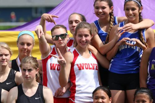 Three-quarters of the fastest 4 x 200 girls relay team in CHS history.