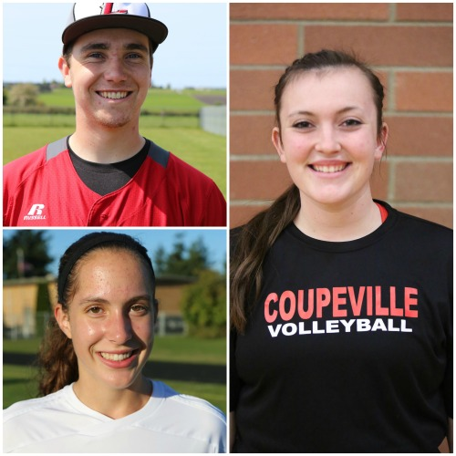Clockwise, from top left, are Aaron Trumbull, Hailey Hammer and Marisa Etzell.