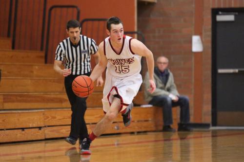 Curtin flies up court during basketball season. (John Fisken photos)