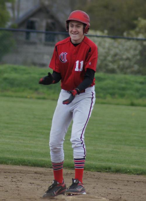 The joy of  a game-winning hit. (Shelli Trumbull photo)