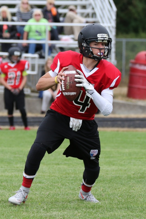 Freshman Gabe Eck is one of four Wolves vying for the team's starting QB job. (John Fisken photos)