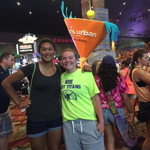 Makana Stone (left) and Kailey Kellner (Amy King photo)