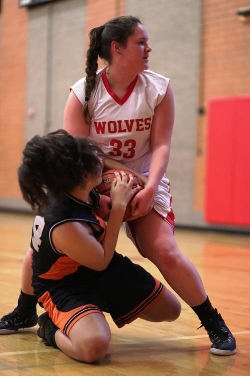 Do not trifle with Sarah Wright (33) when she has her hands on a rebound. It will not end well for you.