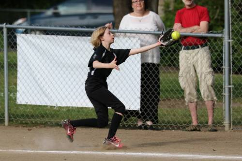 Wynter Arndt, seen here during the recent little league season, is now tearing up the soccer pitch. (John Fisken photo)
