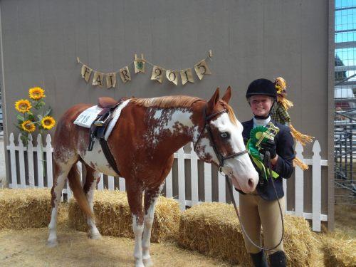 Roberts and her trusty steed. (Jennifer Roberts photo)