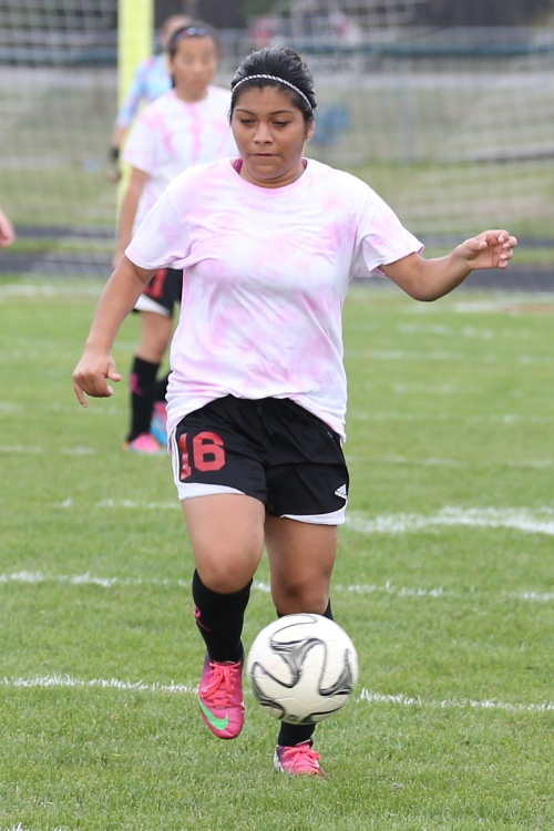 Arisbeth Montiel notched her third goal of the season Tuesday night. (John Fisken photos)