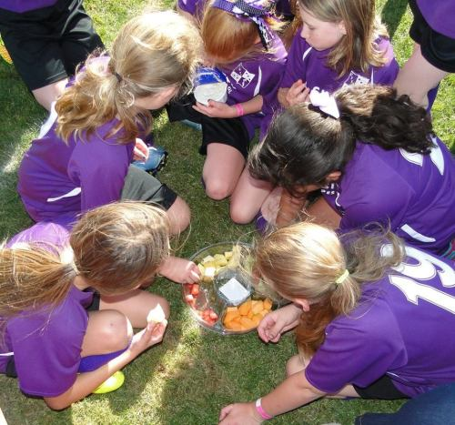 The real reason any of them play soccer? Post-game snacks. It's all about the snacks.