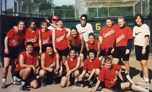 The 1995 Skagit Valley College softball squad, which included coach Denny Zylstra