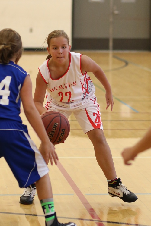 Abby Mulholland gets ready to break some ankles in a game earlier this season. (John Fisken photos)