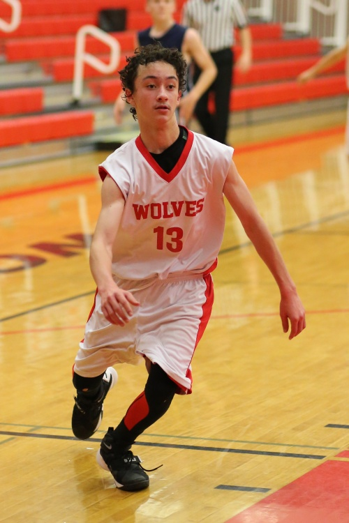 Jered Brown banged home a team-high 12 in the 8th grade game