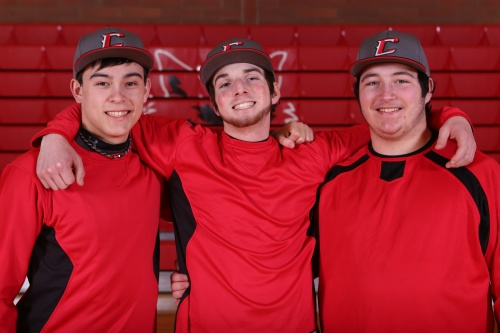 Wolf seniors (l to r) CJ Smith, Cole Payne and Brenden Gilbert