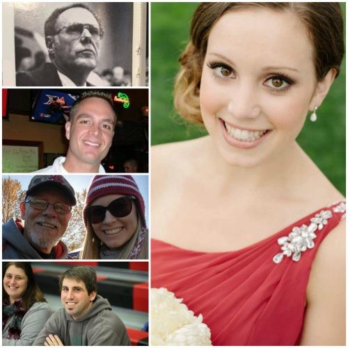 Megan Meyer (right) is joine dby fellow Hall o' Fame inductees (top to bottom) Bob Barker, Arik Garthwaite, Corinne Gaddis and Noah Roehl.