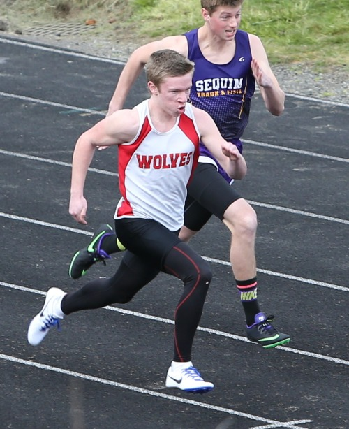 Jacob Smith, seen here during an earlier meet, won three times Thursday in Langley. (John Fisken photo)
