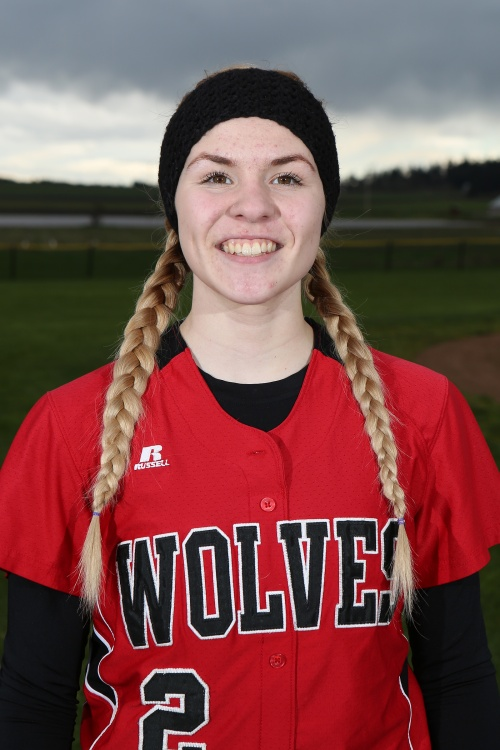 """They call Hope Lodell """"The Surgeon"""" because she carves up opposing pitcher's. (John Fisken photo)"""