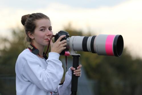 Workin' as the paparazzi. (John Fisken photo)