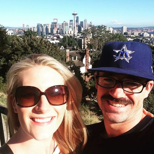 Matt Helm and fiancee Jenna Ure.