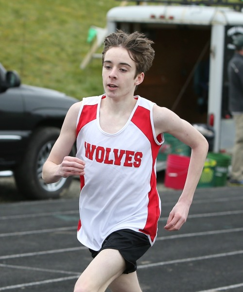 Danny Conlisk, seen here earlier this season, won the 800 at sub-districts Saturday, his first win as a high school runner. (John Fisken photo)