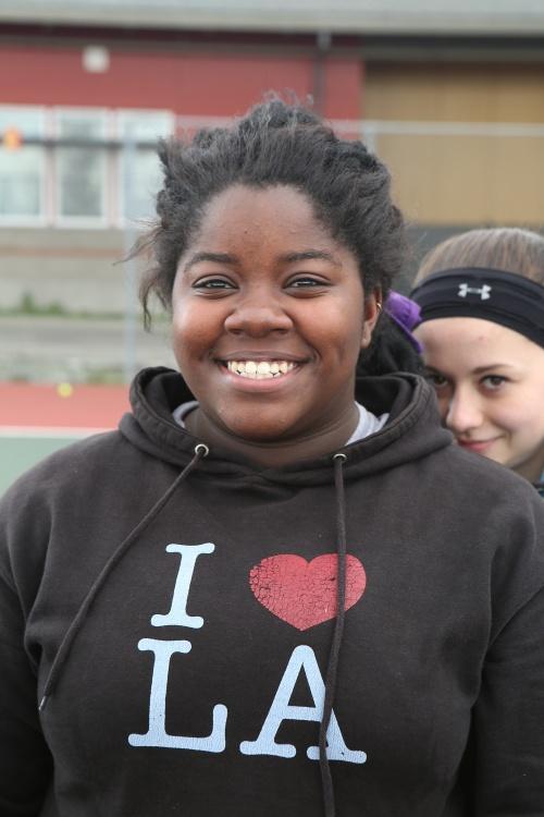The super-talented Jazmine Franklin (and fairly-talented sidekick McKenzie Bailey). (John Fisken photo)