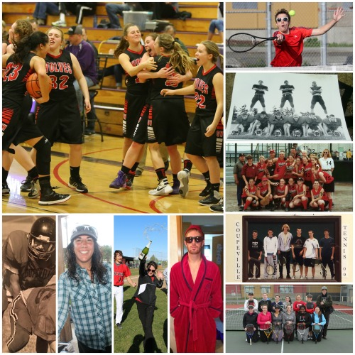 A small smidgen of those whose athletic accomplishments will be honored when our title board project is a success.