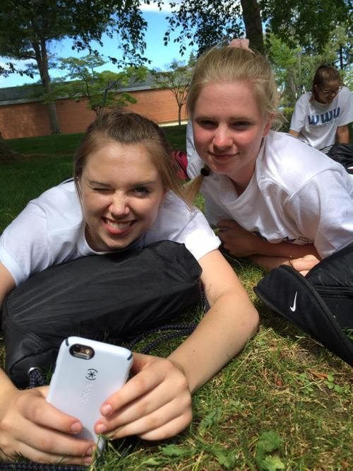 Maddy Hilkey (left) and Ally Roberts