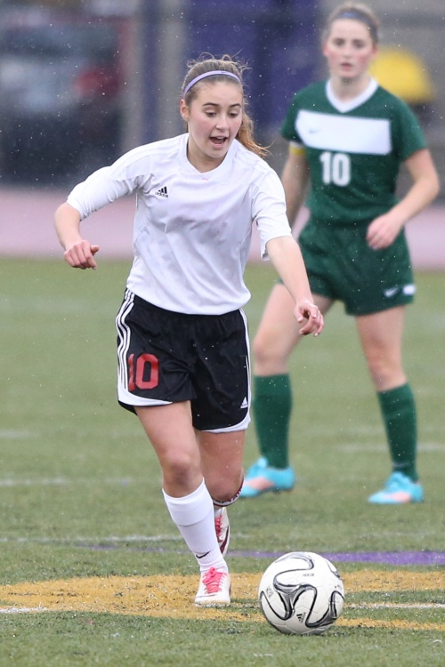 Bree Daigneault and the Wolf booters aim to take down Klahowya. (John Fisken photos)
