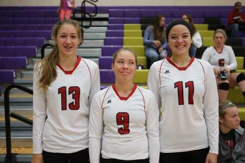 The Wolves return almost their entire roster from a season ago, including (l to r) Emma Smith, Lauren Rose and Katrina McGranahan.