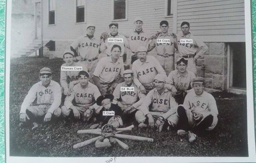 The 1909 Fort Casey baseball team takes a moment out for a photo op. (Photo courtesy Renae Mulholland)