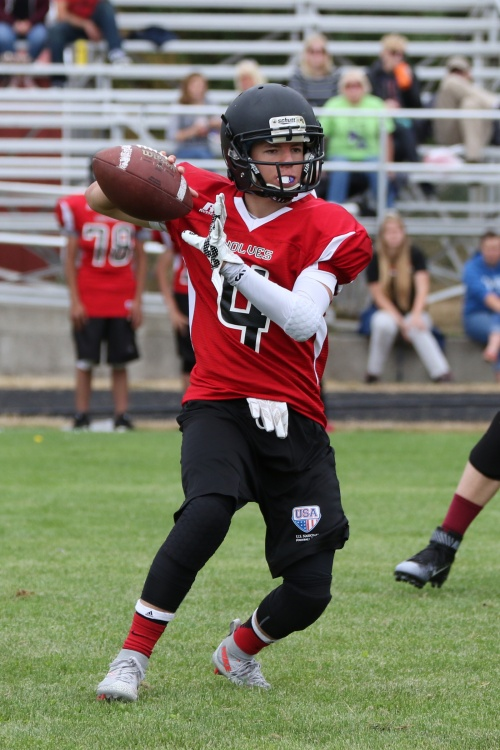Gabe Eck holds Coupeville High School's single-game passing record with 403 yards. (John Fisken photo)