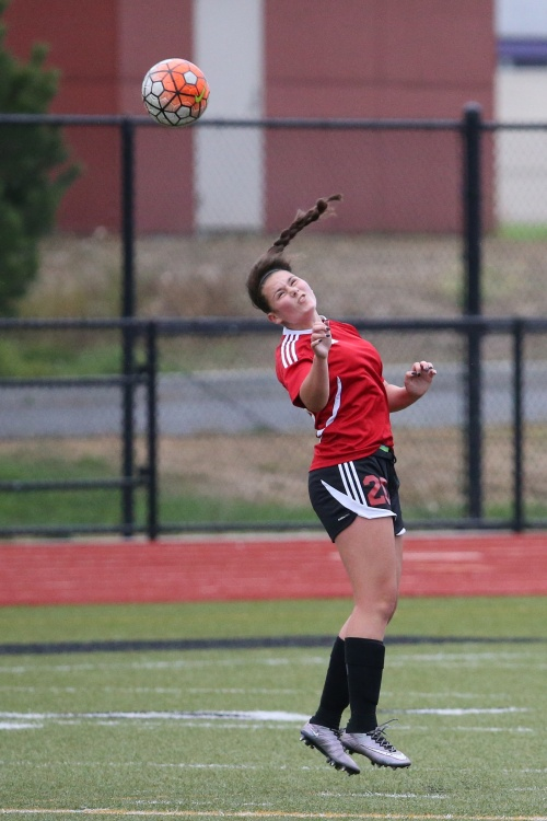 Mia Littlejohn, seen here in the season-opening jamboree, rattled home three more goals Saturday afternoon. (John Fisken photo)