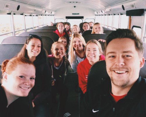 Coupeville High School spikers and coaches head off for a day of volleyball. (Cory Whitmore photo)